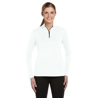 Quarter-zip Women's Lightweight White Pullover