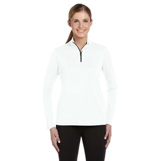 Quarter-zip Women's Lightweight White Pullover (5 options available)