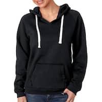 Sydney Women's Brushed V-neck Black Hoodie