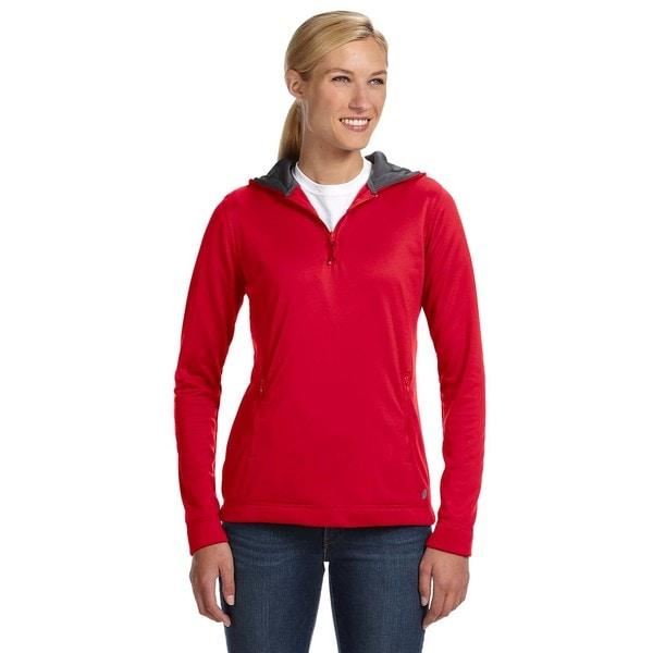 Shop Tech Fleece Quarter-zip Women s Hoodie True Red Pullover - On ... 74ad0203d7