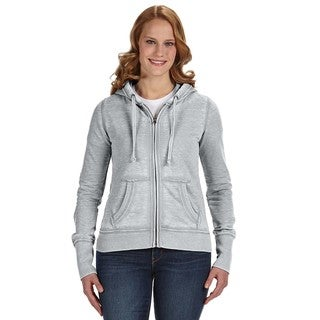 Zen Full-zip Women's Fleece Cement Hoodie