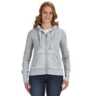 Zen Full-zip Women's Fleece Cement Hoodie