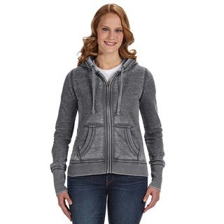 Zen Full-zip Women's Fleece Dark Smoke Hoodie