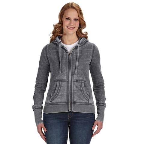 Zen Full-zip Women's Fleece Dark Smoke Hoodie