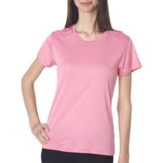 B-core Women's Short-sleeve Performance Pink T-shirt