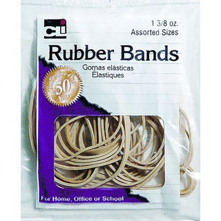 Charles Leonard Inc. 56381 3/8 Oz Bag Rubber Bands Assorted Sizes