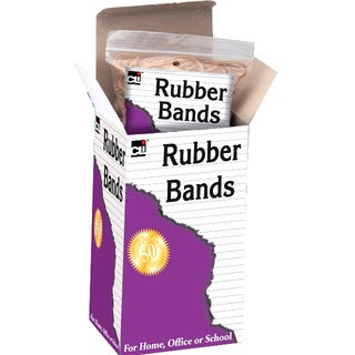 Charles Leonard Inc. 56454 1/4 Lb #54 Beige & Natural Rubber Bands