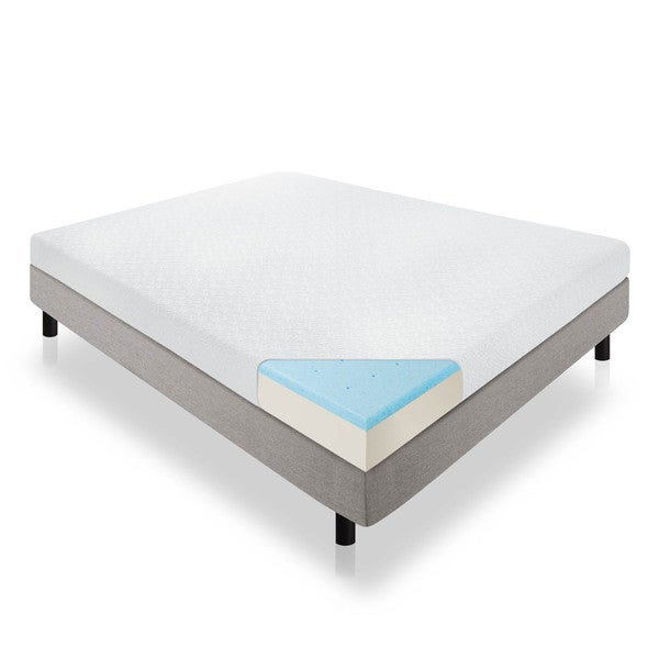 lucid 6 inch full size gel memory foam mattress free shipping today 19105258. Black Bedroom Furniture Sets. Home Design Ideas