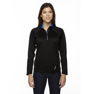 Radar Women's Half-zip Black/ True Royal 463 Performance Long-sleeve Top