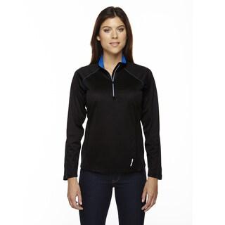 Radar Women's Half-zip Black/ True Royal 463 Performance Long-sleeve Top