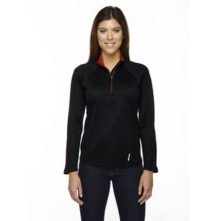 Radar Women's Half-zip Black/ Classic Red 874 Performance Long-sleeve Top