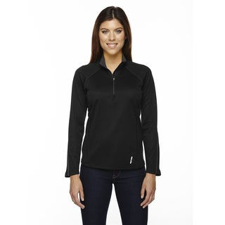 Radar Women's Half-zip Black 703 Performance Long-sleeve Top