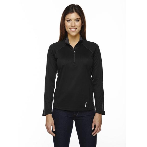 Radar Women's Half-zip Black 703 Performance Long-sleeve Top