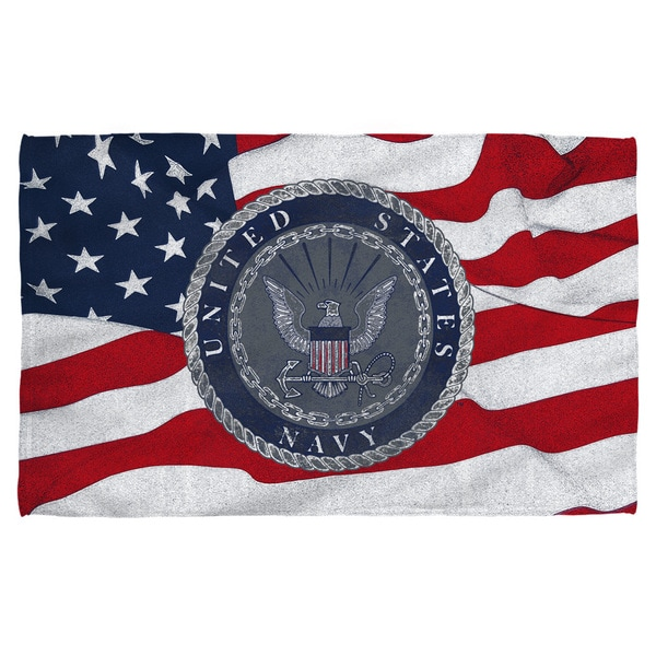 Navy/Flag Seal Beach Towel