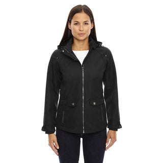 Uptown Three-layer Light Bonded Women's City Textured Soft Shell Black 703 Jacket