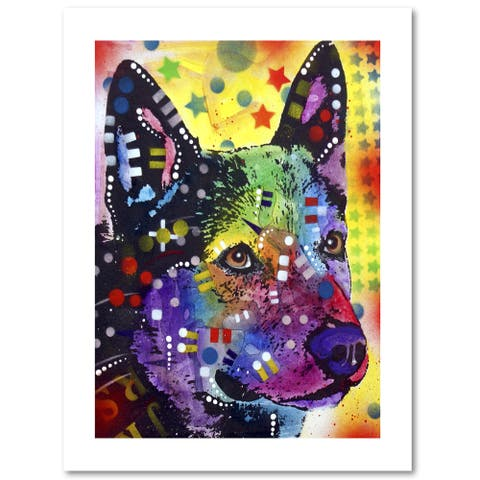 Dean Russo 'Aus Cattle Dog' Paper Art