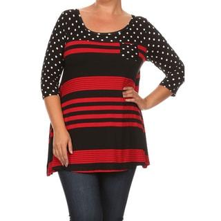 Women's Polka Dot Stripe Top