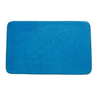 Designed Blue Floor Mat