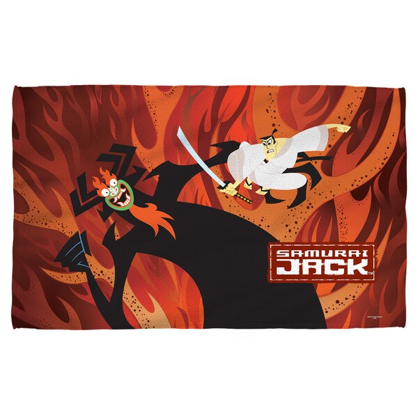 Samurai Jack/Epic Battle Beach Towel