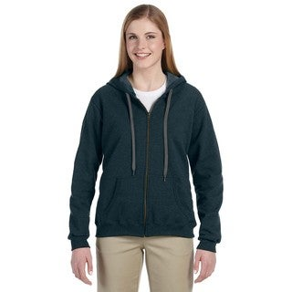 Heavy Blend Women's Vintage Classic Midnight Full-zip Hoodie