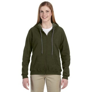 Heavy Blend Women's Vintage Classic Moss Full-zip Hoodie