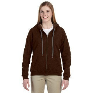 Heavy Blend Women's Vintage Classic Russet Full-zip Hoodie (3 options available)