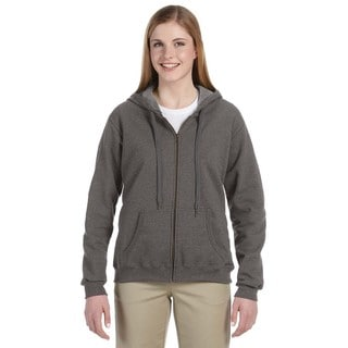 Heavy Blend Women's Vintage Classic Tweed Full-zip Hoodie