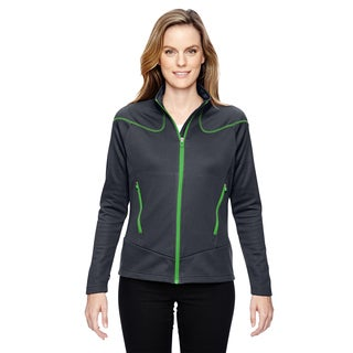 Interactive Women's Cadence Two-tone Brush Back Carbon/ Acid Green 472 Jacket