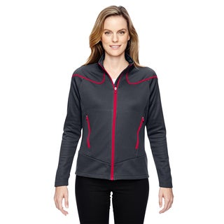 Interactive Women's Cadence Two-tone Brush Back Carbon/ Olyred 467 Jacket