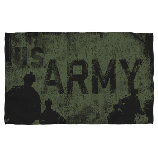 Army/Strong Polyester Beach Towel