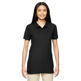 Premium Cotton Women's Double Pique Black Sport Shirt