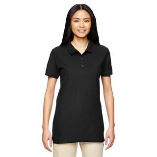 Premium Cotton Women's Double Pique Black Sport Shirt