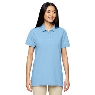 Premium Cotton Women's Double Pique Light Blue Sport Shirt