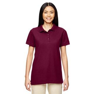 Premium Cotton Women's Double Pique Maroon Sport Shirt