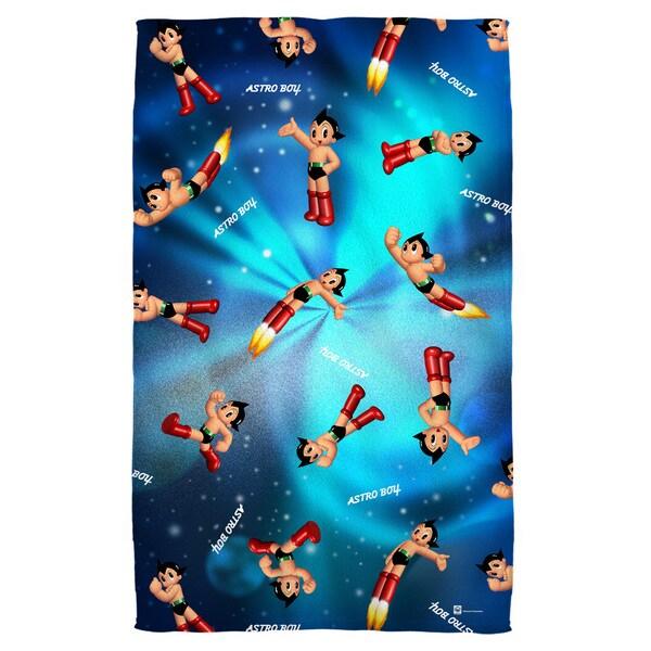 Astro Boy/Pattern Polyester Beach Towel
