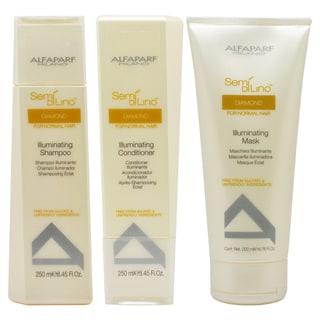 Alfaparf Semi Di Lino Diamond Illuminating Shampoo, Conditioner, and Mask Set