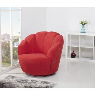Newton Scarlett Swivel Barrel Chair
