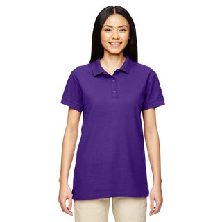Premium Cotton Women's Double Pique Purple Sport Shirt