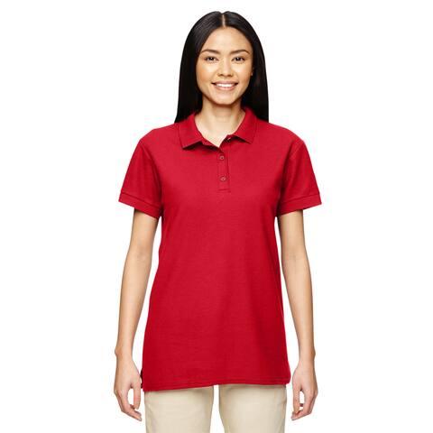 Premium Cotton Women's Double Pique Red Sport Shirt