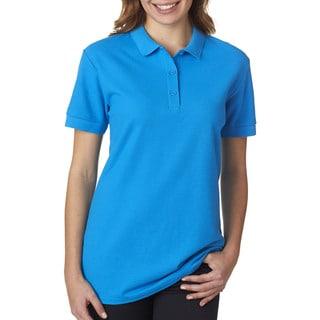 Premium Cotton Women's Double Pique Sapphire Sport Shirt