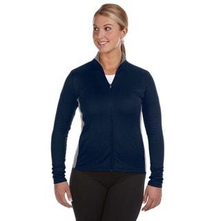 Performance Women's Colorblock Full-zip Navy/ Stone Gray Jacket