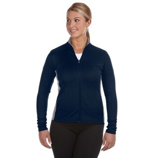 Performance Women's Colorblock Full-zip Navy/ Stone Gray Jacket