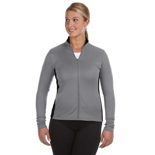 Performance Women's Colorblock Full-zip Stone Gray/ Black Jacket