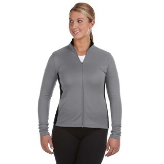 Performance Women's Colorblock Full-zip Stone Gray/ Black Jacket