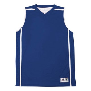 Reversible Women's B-line V-neck Royal/ White Tank