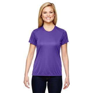 Shorts Sleeve Women's Shirt Purple Cooling Performance Crew