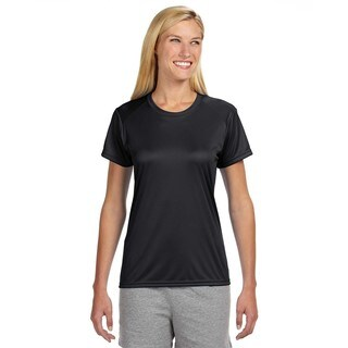 Shorts Sleeve Women's Shirt Black Cooling Performance Crew