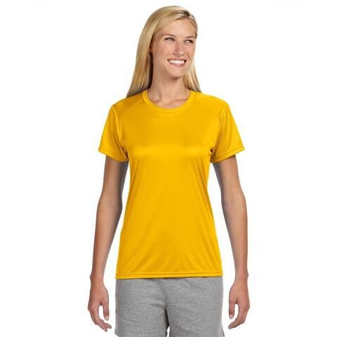 Shorts Sleeve Women's Shirt Gold Cooling Performance Crew