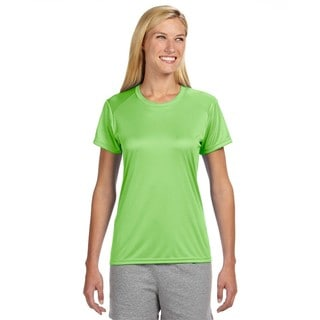 Shorts Sleeve Women's Shirt Lime Cooling Performance Crew
