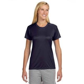 Shorts Sleeve Women's Shirt Navy Cooling Performance Crew